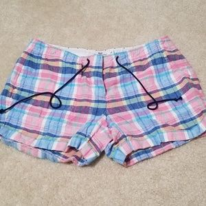 Adorable Plaid Linen booty shorts